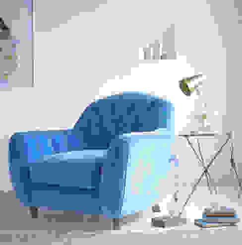 Butterbump armchair par Loaf Classique Coton Rouge