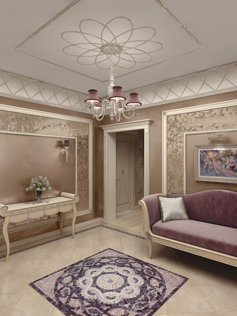Classic style corridor, hallway and stairs by ELLE DESIGN STUDIO Classic