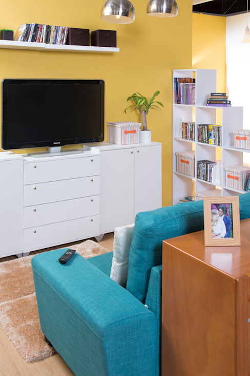 Sala de tv de Idea Interior Moderno Aglomerado