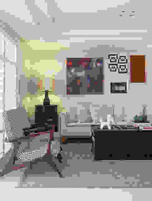 Artsy Design Apartment Salas de estar ecléticas por Johnny Thomsen Arquitetura e Design Eclético Madeira Efeito de madeira
