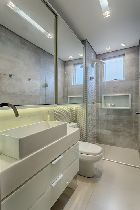 Modern Bathroom by Flaviane Pereira Modern Concrete