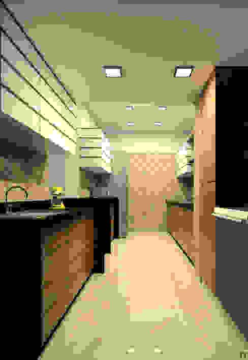 Kitchen A.S.Designs Modern kitchen Plywood Brown