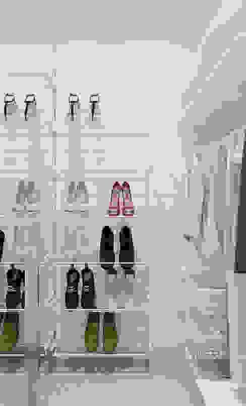 Vestidores y closets de estilo  por mlynchyk interiors , Minimalista