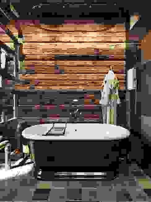 Лофт в Киеве: Ванные комнаты в . Автор – Дизайн-мастерская 'GENESIS', Лофт