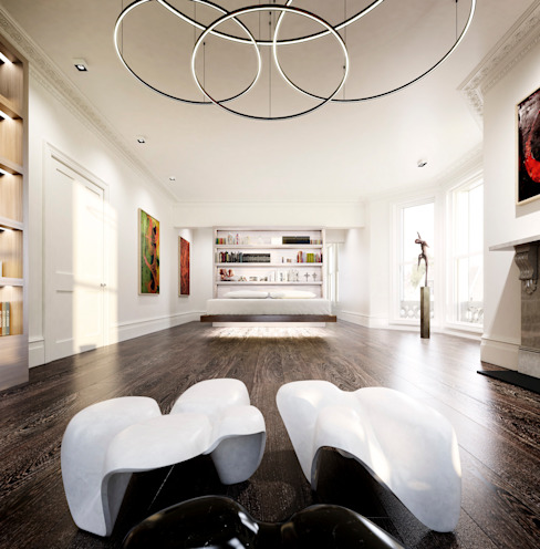 House in Notting Hill by Recent Spaces Modern style bedroom by Recent Spaces Modern Marble