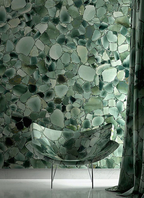 Green Jade Bathroom, Hong Kong ShellShock Designs Asian style bathrooms Stone Green