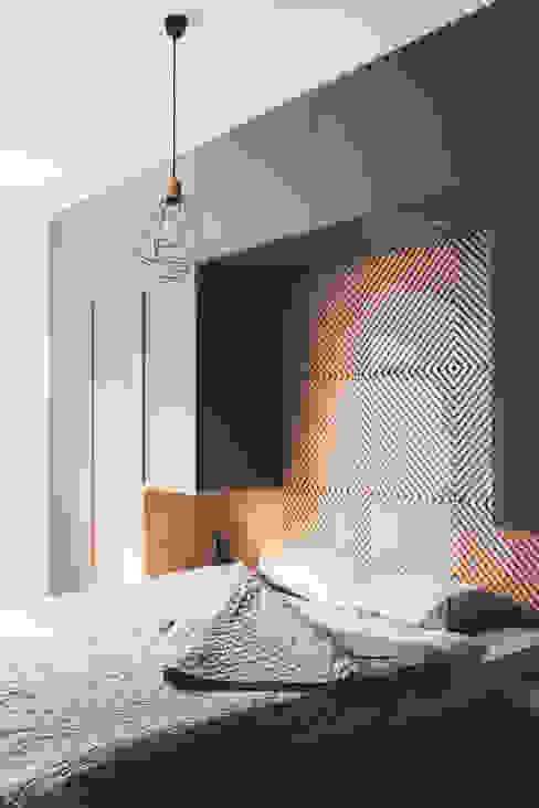 projekt aranżacji apartamentu w Gdyni: styl , w kategorii Sypialnia zaprojektowany przez em2,Nowoczesny