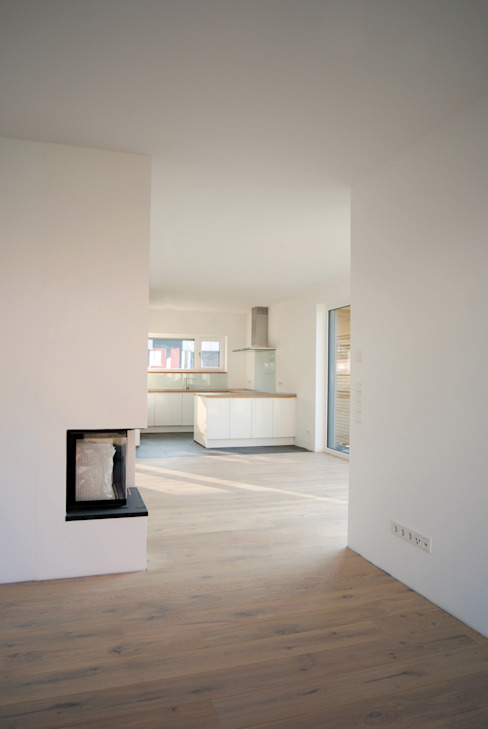 Einfamilienhaus in Steinbach Moderne Wohnzimmer von lauth : van holst architekten Modern