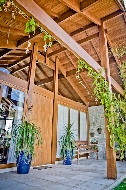 Balcones y terrazas de estilo rural de Carlos Eduardo de Lacerda Arquitetura e Planejamento Rural