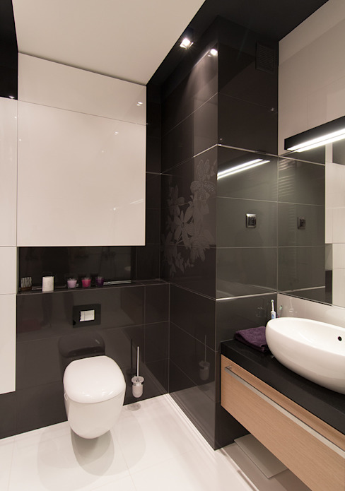 Projekt wnętrz mieszkania w budynku wielorodzinnym: styl , w kategorii Łazienka zaprojektowany przez AP2 Architekci,Nowoczesny