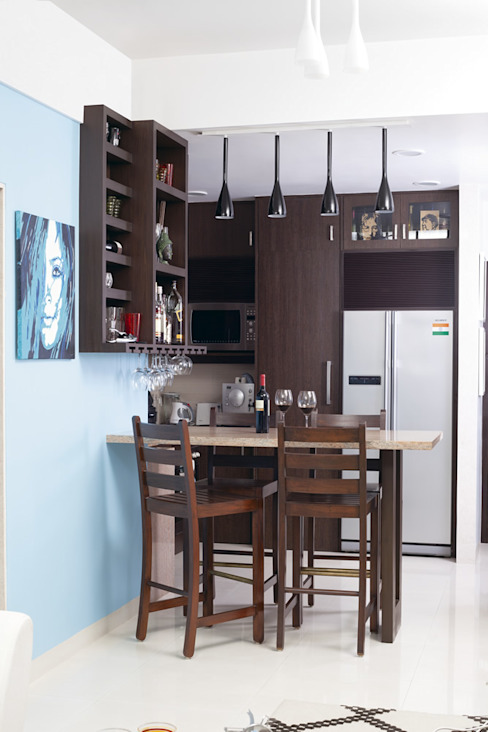 Nitido Interior design Tropical style kitchen Wood Brown