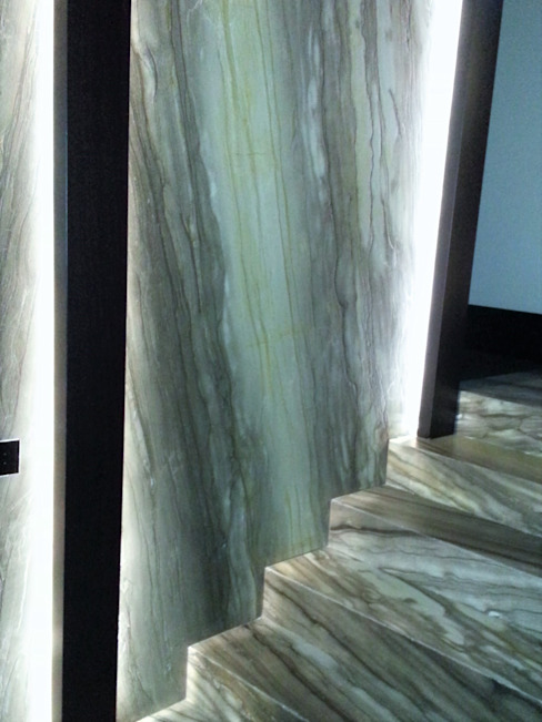 Persiceto Marmi Classic corridor, hallway & stairs Stone Green