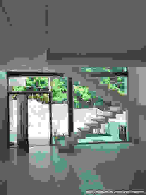 Pasillos y vestíbulos de estilo  por Diez y Nueve Grados Arquitectos, Minimalista
