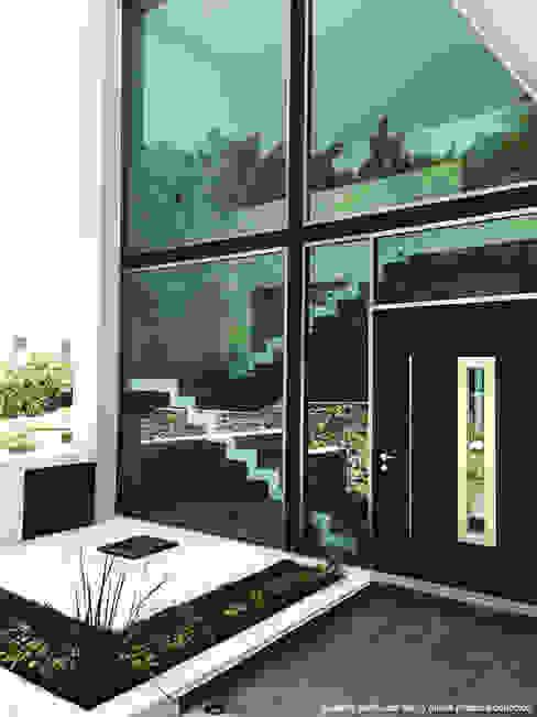 Casas de estilo  de Diez y Nueve Grados Arquitectos, Minimalista