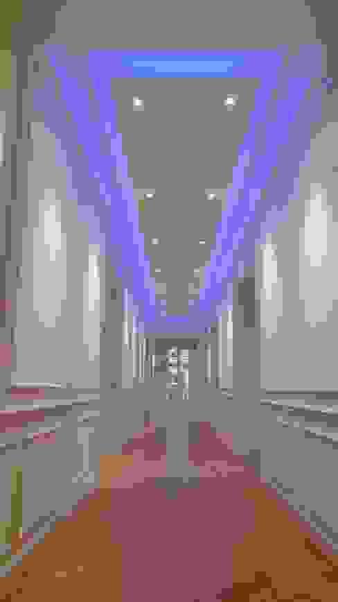 Hall et dégagement vers la suite parentale Couloir, entrée, escaliers modernes par Philippe Ponceblanc Architecte d'intérieur Moderne