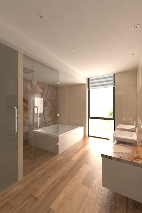 Modern bathroom by Area5 arquitectura SAS Modern