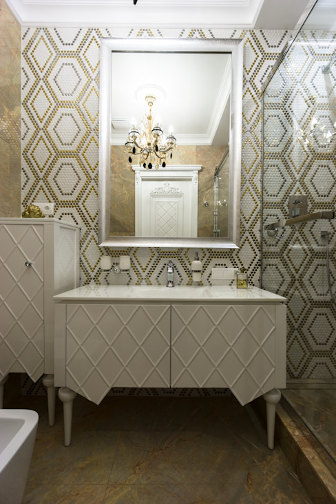 MM-STUDIO Eclectic style bathroom Amber/Gold