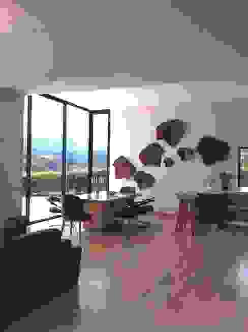 Comedor Casa Campestre: Comedores de estilo  por ea interiorismo, Ecléctico Madera Acabado en madera