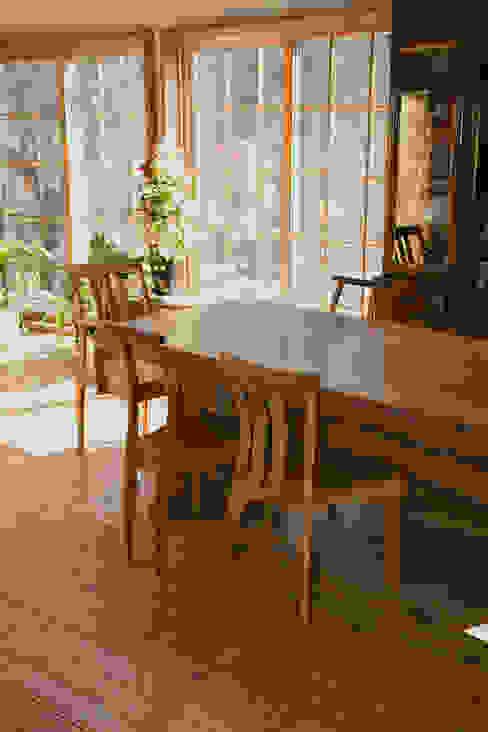T氏邸ダイニングテーブル: 木工房ばおばぶが手掛けたカントリーです。,カントリー 木 木目調