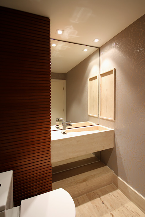 APARTAMENTO AS Banheiros modernos por F:POLES ARQUITETOS ASSOCIADOS Moderno