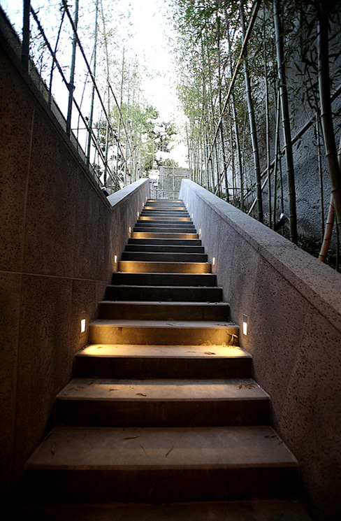 외부 익스테리어 - 외부 계단: 엔디하임 - ndhaim의  정원