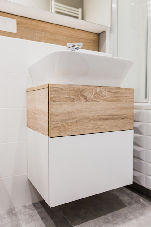 ADM MEBLE BathroomShelves Wood White
