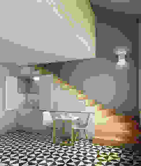Minimalist Yemek Odası David Bilo | Arquitecto Minimalist Ahşap Ahşap rengi