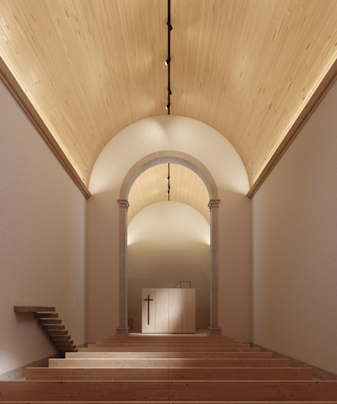 Couloir, entrée, escaliers minimalistes par David Bilo | Arquitecto Minimaliste Bois Effet bois