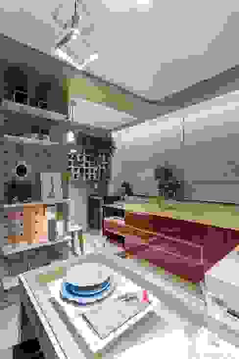 Cozinha do Estúdio da Estilista Cozinhas modernas por Caio Prates Arquitetura e Design Moderno MDF