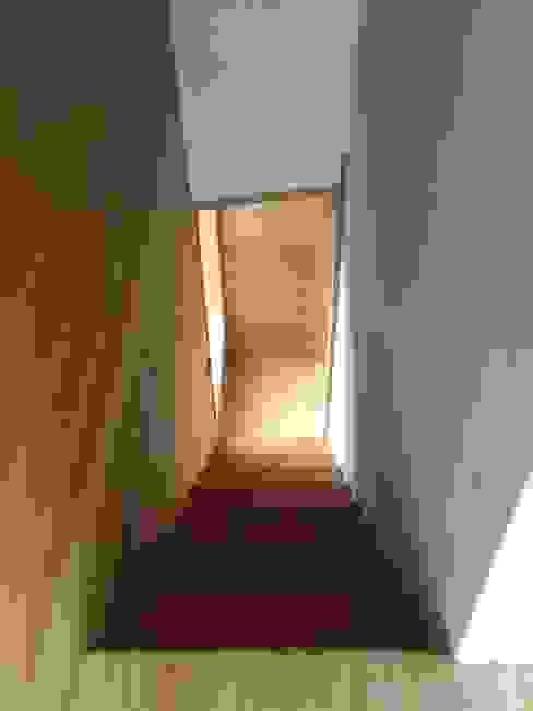 Pasillos y vestíbulos de estilo  de PhilippeGameArquitectos, Moderno Madera Acabado en madera