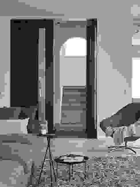Monument aan de waterkant - vergunningsvrije uitbreiding Moderne woonkamers van ENZO architectuur & interieur Modern