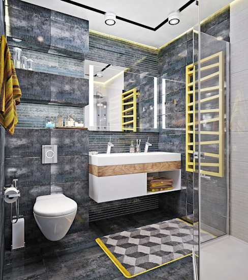 Baños industriales de Студия дизайна Interior Design IDEAS Industrial