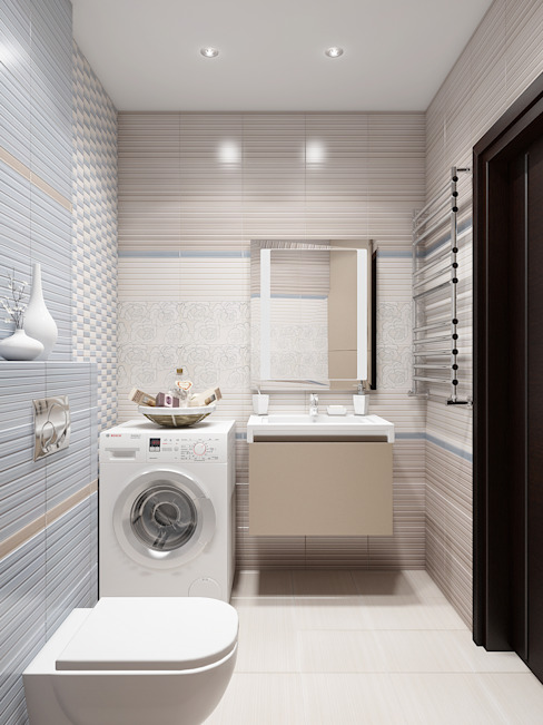 Квартира в ярких тонах Ванная комната в стиле минимализм от Tatiana Zaitseva Design Studio Минимализм