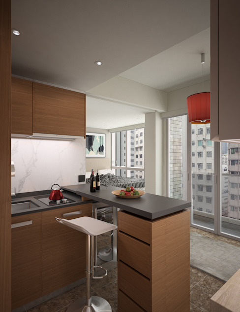 South Lane | Kennedy Town | Hong Kong:  Kitchen by Nelson W Design, Modern