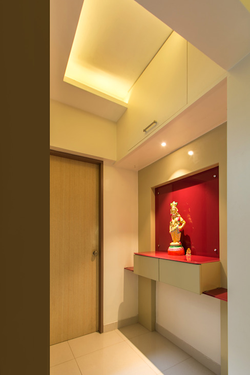 Puja Unit:  Corridor, hallway & stairs  by Navmiti Designs