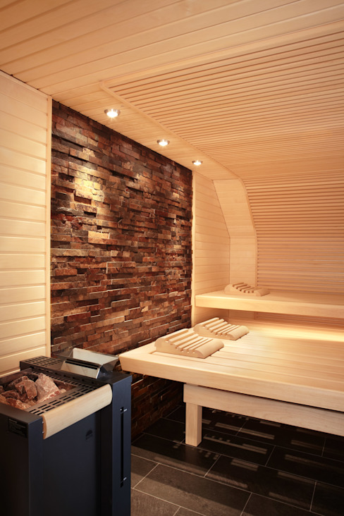 Spa de estilo  por Erdmann Exklusive Saunen, Moderno
