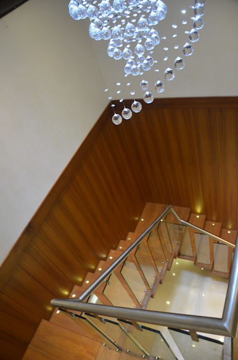 Mahalakshmi Modern Koridor, Hol & Merdivenler TRINITY DESIGN STUDIO Modern