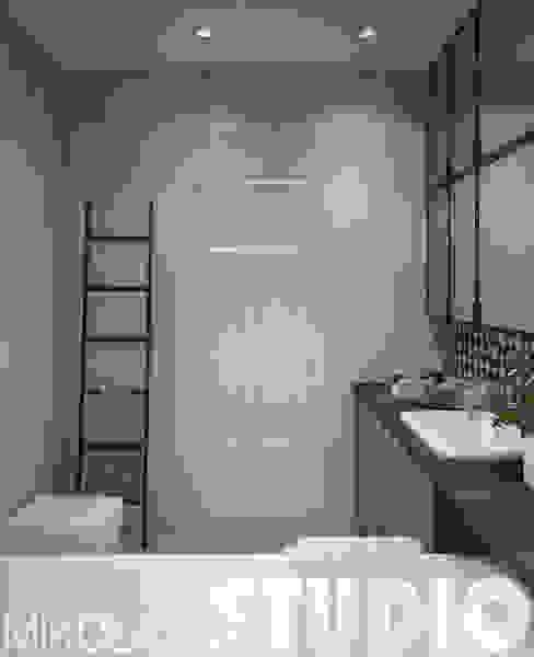 łazienka-wieszak-drabina od MIKOŁAJSKAstudio