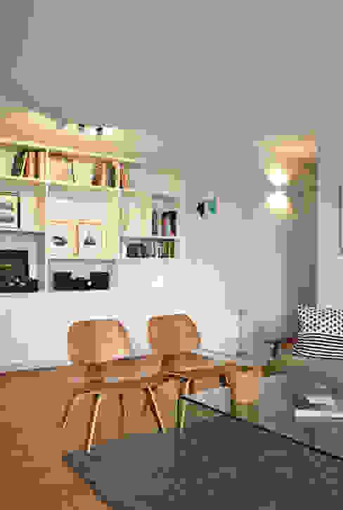DEPTO. 34 Livings de estilo moderno de ESTUDIO BASE ARQUITECTOS Moderno