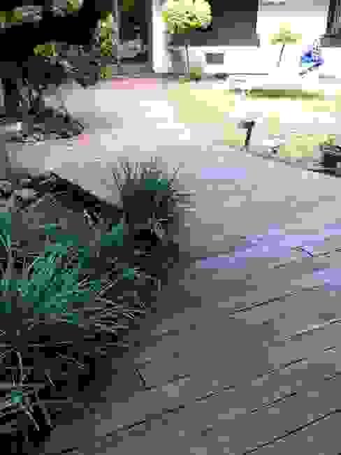 daniel villela arquitetura Rustic style gardens Concrete Wood effect