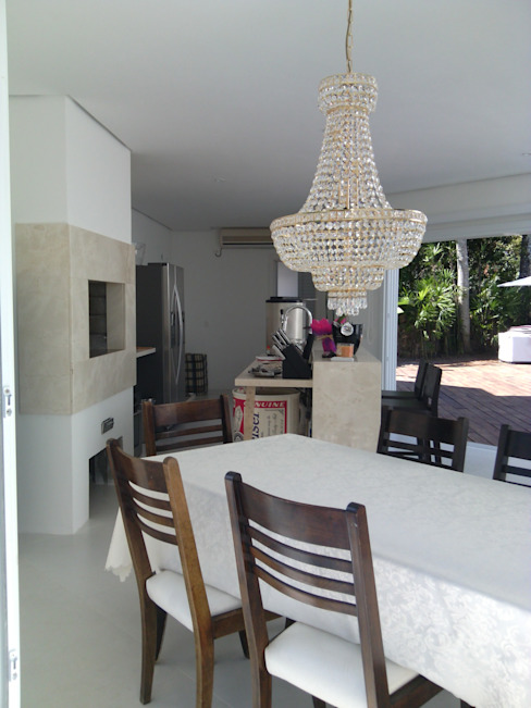PROJETO SALÃO DE FESTAS - PORTO ALEGRE / RS daniel villela arquitetura Salas de jantar modernas Granito Branco
