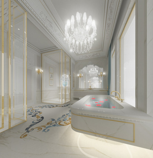Interior Design & Architecture by IONS DESIGN Dubai,UAE Classic style bathroom by IONS DESIGN Classic