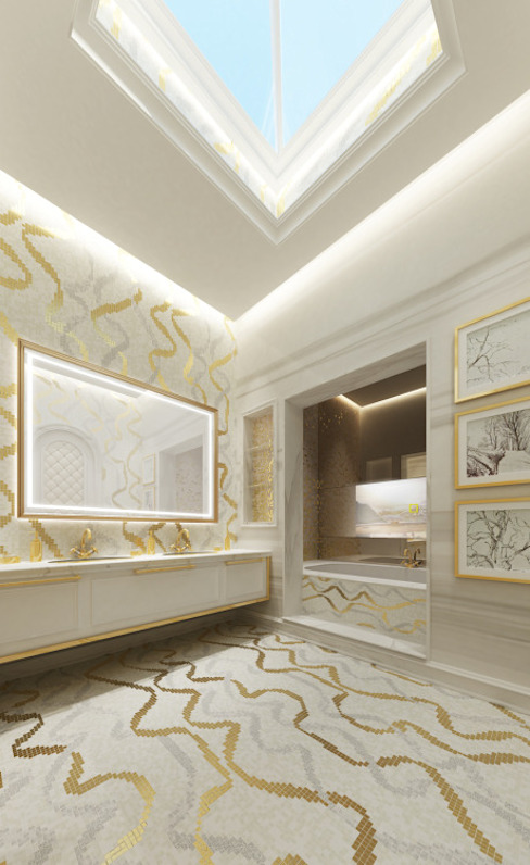 Interior Design & Architecture by IONS DESIGN Dubai,UAE Klassieke badkamers van IONS DESIGN Klassiek