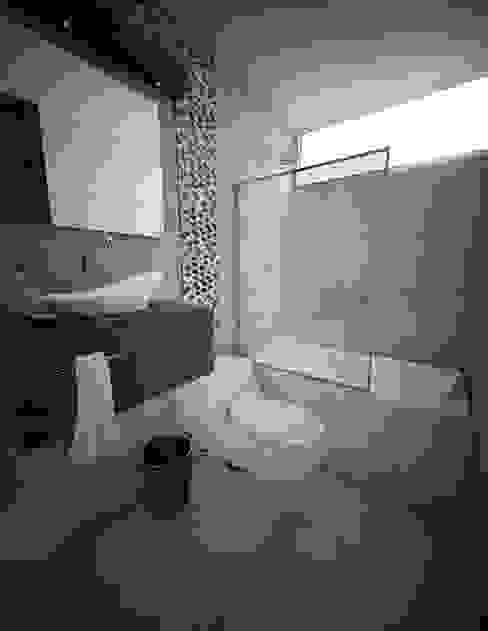Proyecto en San Andrés, Trujillo: Baños de estilo  por Arquitectura y diseño 3d- J.C.G,Moderno