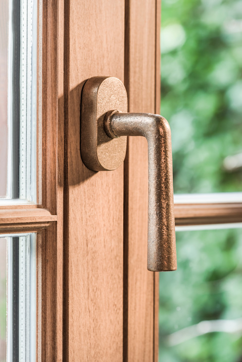 Pure Ph1925+ window handle in Raw Bronze Dauby Windows & doorsWindows