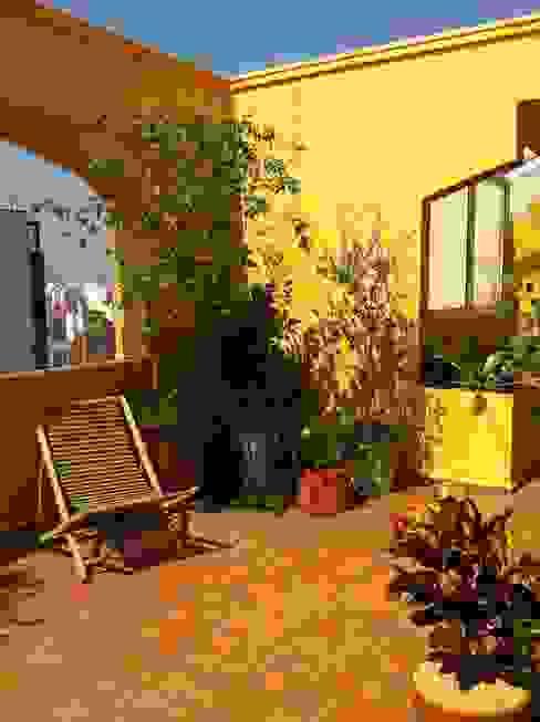 Balcones y terrazas de estilo rústico de Renata Villar Paisagismo e Arranjos Florais Rústico