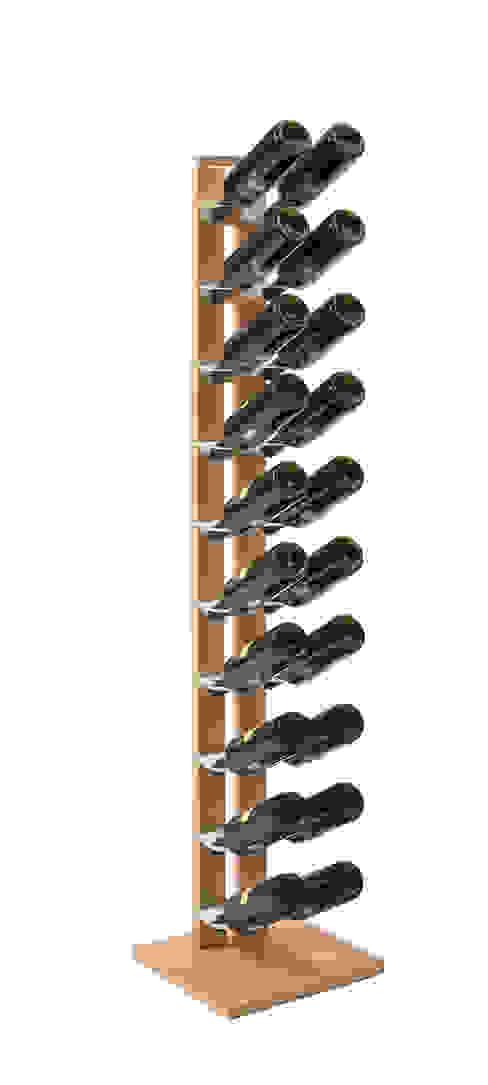 Zia Gaia | portabottiglie singolo a colonna | h 150 cm Le zie di Milano CasaArticoli Casalinghi Legno massello Effetto legno