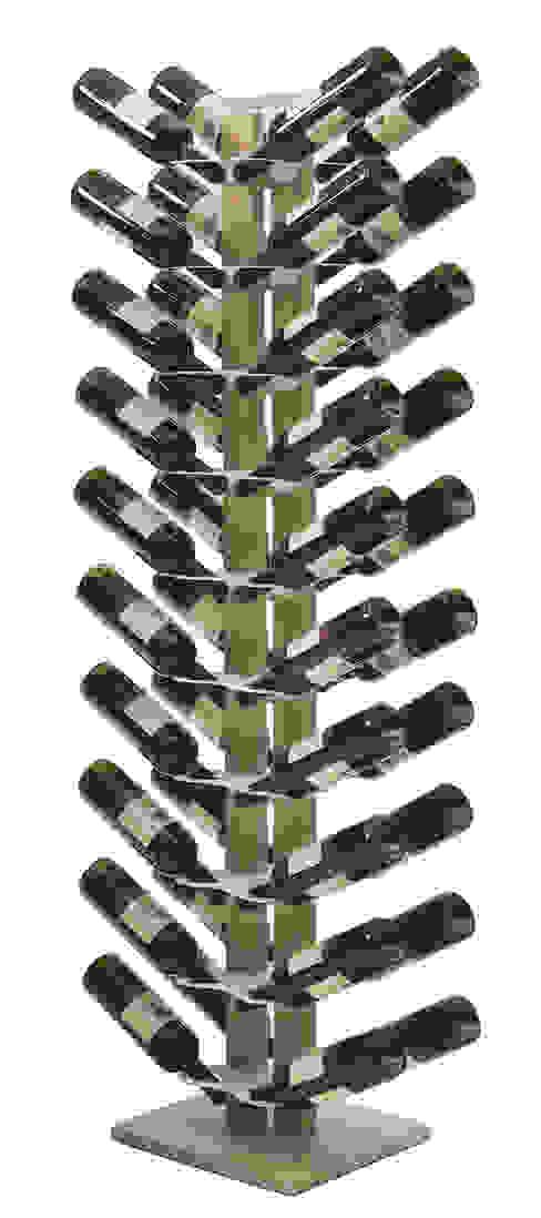Zia Gaia | portabottiglie doppio a colonna | h 150 cm Le zie di Milano CasaArticoli Casalinghi Legno massello Effetto legno