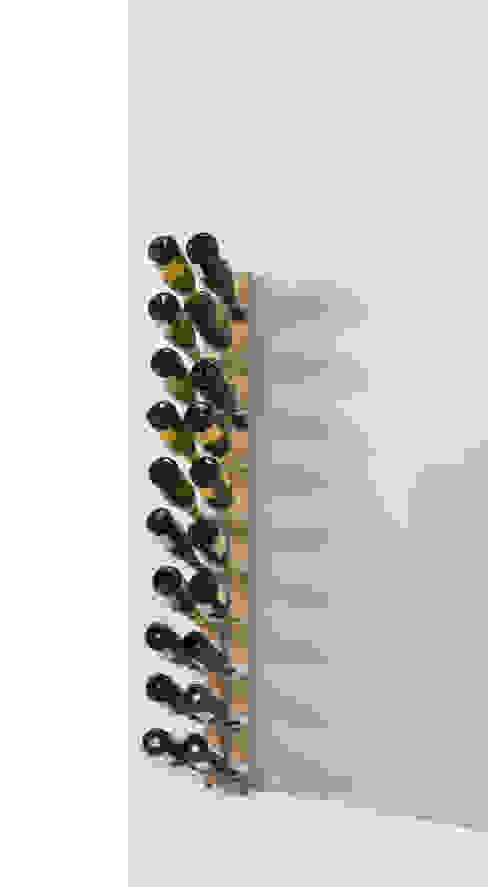 Zia Gaia | portabottiglie singolo a parete | h 150 cm Le zie di Milano CasaArticoli Casalinghi Legno massello Effetto legno