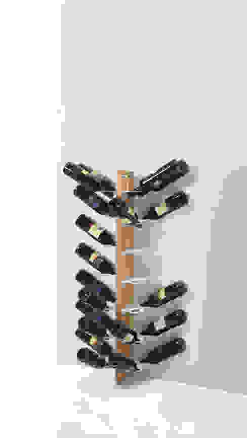 Zia Gaia | portabottiglie doppio a parete | h 105 cm Le zie di Milano CasaArticoli Casalinghi Legno massello Effetto legno